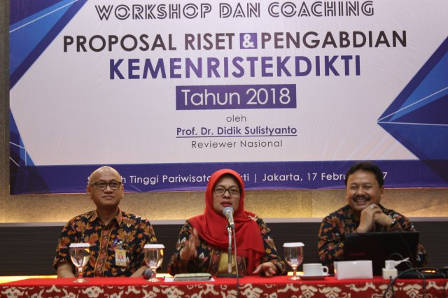 Workshop dan Coaching Proposal Riset & Pengabdian Kemenristekdikti Tahun 2018
