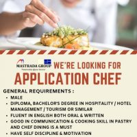 WE'RE HIRING FOR APPLICATION CHEF